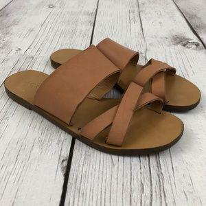 J Crew Leather Criss Cross Sandals